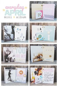 Everyday April Mini Album by Amy Kingsford