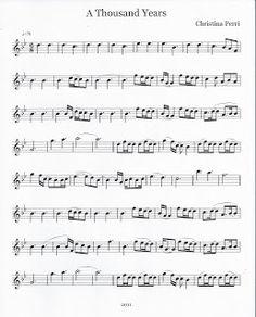 Flute & Tenor Sax Sheet Music :): A Thousand Years