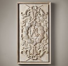 Hand-Carved Rococo Wood Panel White Large on Wanelo