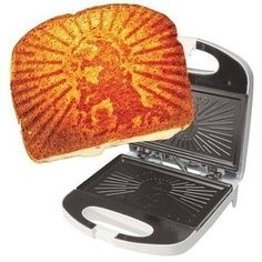 This grilled cheesus sandwich press that's uniquely designed to make perfectly toasted bread. | 23 Kitchen Gadgets That'll Make You Swear Off Take-Out Forever
