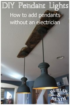 Upcycled Vintage Industrial Lighting  No Electrician Needed  wooden plank  to hide cableShop Kichler Lighting Bayley 4 Light 32 24 in Olde Bronze Dimmable  . Diy Kitchen Track Lighting. Home Design Ideas