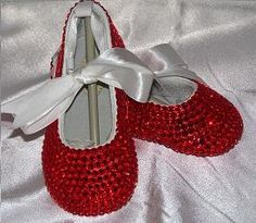 Baby Bling Shoes : Ruby Red Rhinestone Ballet Shoes for The Yellow Brick Road