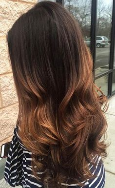 Warm Golden Caramel Balayage Highlights