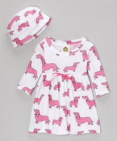 Take a look at this Pink Haute Dog Organic Dolly Dress & Beanie - Infant & Toddler on zulily today!