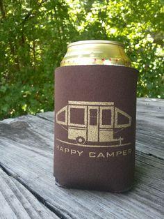 Happy Pop Up Camper Koozie - Set of 2. $9.00, via Etsy.