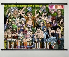 Fairy Tail Erza·Scarlet Home Decor Anime Japanese Poster Wall Scroll Art Whole