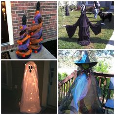 I rounded up my favorite ideas to turn a boring tomato cage into a wonderful Halloween decoration! Just click on the links below to get a tutorial. Tomato Cage Pumpkin Toparies(Pinterest) – Bunch up orange and green deco mesh! Tomato Cage Witch (unknown source) – Use deco mesh for the dress and a styrofoam ball …