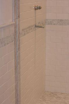 Subway tiled shower