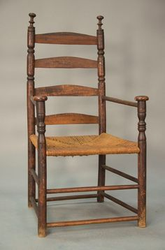 ladderback great chair with five slats sausage turnings