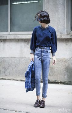 Hipster fashion by Koreans Fashion Moda, Fashion Week, Look Fashion, Womens Fashion, Street Fashion, Looks Style, Looks Cool, Mode Cool, Mode Jeans