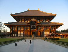 Todaiji Temple in Nara.  The world's largest wooden building.