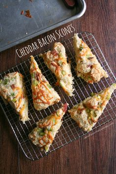 Finger food for during the games! Cheddar Bacon Scones from JensFavoriteCookies.com