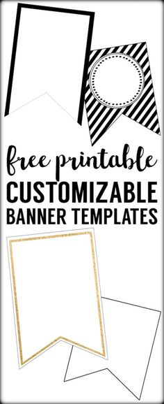 Printable Pennant Banner Template   Event Planning