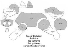 Image result for Wolf Plush Sewing Pattern