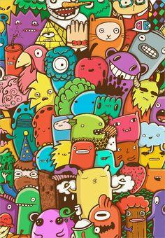 Doodle Art on Behance Cute Doodle Art, Cool Doodles, Funny Doodles, Doodle Art Designs, Doodle Art Drawing, Cool Art Drawings, Graffiti Doodles, Graffiti Lettering, Graffiti Art