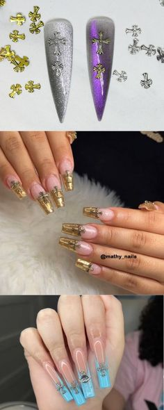 5pcs Antique Cross nail decoration/gold silver Christian Nail DIY deco/ Cross charm for nail gel and polish design Cross Nails, Chrome Hearts, Nail Supply, Nail Decorations, Diy Nails, Coffin Nails, Nail Designs, Polish, Nail Gel