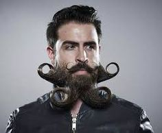 25 Crazy and Bizarre Beard and Moustache Styles Grow A Thicker Beard, Thick Beard, Beard Fade, Goatee Beard, Short Beard, Men Beard, Long Beard Styles, Beard Styles For Men, Hair And Beard Styles