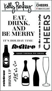 Kelly Purkey Clear Stamp CHEERS CHE1113