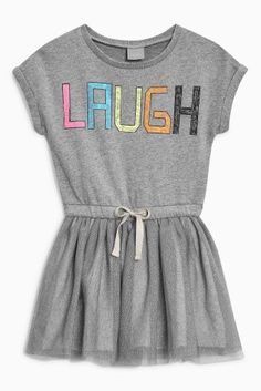 Cumpără Grey Laugh Dress (3 luni - 6 ani) de la Next Romania