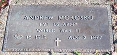 Andrew Morosko (1919 - 1977) - Find A Grave Photos