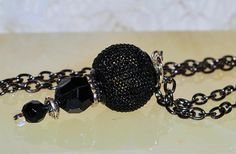 BEAUTIFUL BEAD PENDENT30'' Chain A037 by JewelryByLLennea on Etsy