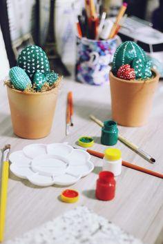 Esse tutorial de faça você mesmo de cactus é uma graça e super fácil de fazer…
