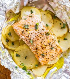 These salmon and squash packs are great to prep ahead and pack for a beach or picnic party. Store them in a cooler over ice so they stay fresh, then toss them on the grill. Get the recipe here.