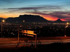Slow it down. and take some time to enjoy the beautiful view. What an amazing sunset behind table mountain. So blessed to live here. Table Mountain, Amazing Sunsets, Wonders Of The World, South Africa, Most Beautiful, Blessed, Activities, Building, Instagram Posts