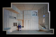 Werther (Jules Massenet), set and light design: Klaus Grünberg, Opernhaus Zürich, 2017
