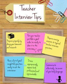 teaching job interview tips - Teacher Interview Tips For Teachers Interview Questions