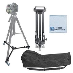 Introducing Elite Series Professional Universal Tripod Dolly w One Step Easy Lock  Locking Wheels for all Cameras and Camcorders  Microfiber Cloth. Great product and follow us for more updates!