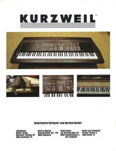 Kurzweil 250 Anzeige 1985