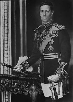 King George VI of England, formal photo portrait, circa Father of Queen Elizabeth II