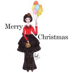 Dress for Christmas #fashion #fashiondesign #fashionillustrator #fashionillustration #red #dress #christmas #drawing #draw