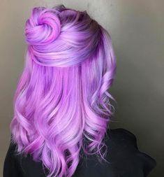 Pastel hair purple cotton candy Ideas for 2019 Cute Hair Colors, Beautiful Hair Color, Hair Color Purple, Hair Dye Colors, Cool Hair Color, Purple Grey, Fuschia Hair, Lilac Hair, Pastel Purple
