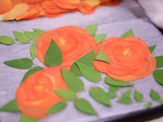 押花 バラの組み立てオレンジ