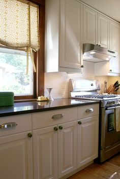 Roman shades for the kitchen