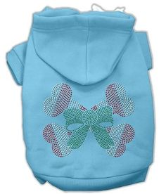 Candy Cane Crossbones Rhinestone Dog Hoodie Baby Blue-Extra Small  15% Discount - Use code DOGGIE at Checkout   http://www.gingersdoggieheaven.com #HolidayDogClothes 15% Discount - Use code DOGGIE at Checkout
