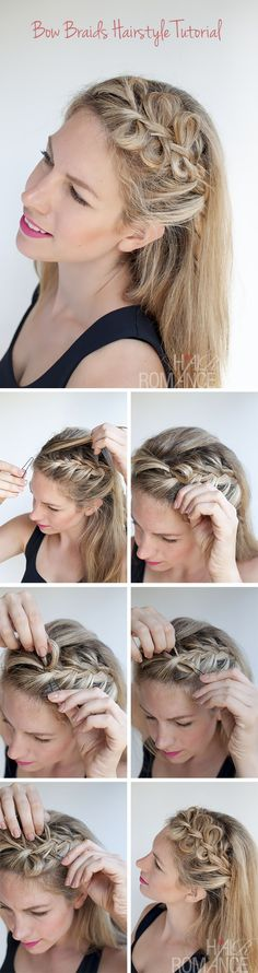 Hair Romance - Bow braids hairstyle tutorial how to