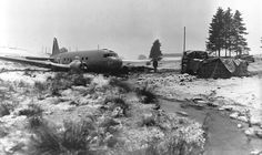 C-47 shot down over Bastogne during the Ardennes offensive of 1944.