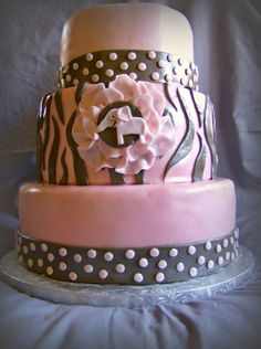 Pink baby shower By Tacy09 on CakeCentral.com