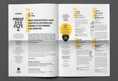 Les produits de l'épicierie, design graphique, Festival Prise Directe 2, Cie Théâtre du Prisme, festival lecture, théâtre, Lille, France