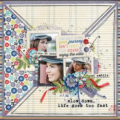 Page made by Conny using Paper Play #05 Templates by Akizo Designs (Digital Scrapbooking layout)