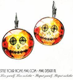 Bekijk dit items in mijn Etsy shop https://www.etsy.com/nl/listing/537687198/skull-earrings-mwl-design-nl-03093