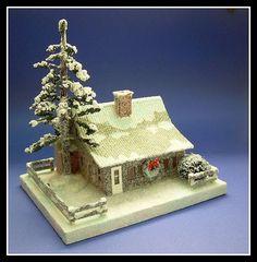 Custom Christmas putz house #2, Howard Lamey by mcudeque, via Flickr