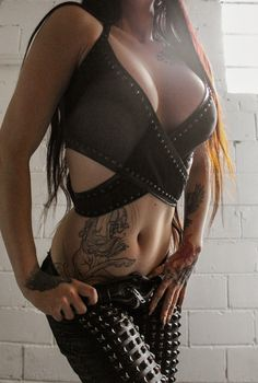 TOXIC VISION Black Widow wrap top