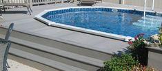 Swimming Pool Decks, Above Ground Swimming Pools, In Ground Pools, Semi Above Ground Pool, Semi Inground Pools, Patio Blocks, Oval Pool, Pool Sizes, Pool Installation