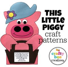 "Need a craft for the nursery rhyme, ""This Little Piggy?"" Here you go!  Just download the pattern, copy onto construction paper and you are ready for your kiddos to cut and glue."
