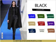 Color Coordinate Your Fall Wardrobe Like A Pro   CF's Color Compatibility Charts - Black   CorporateFashionista.com