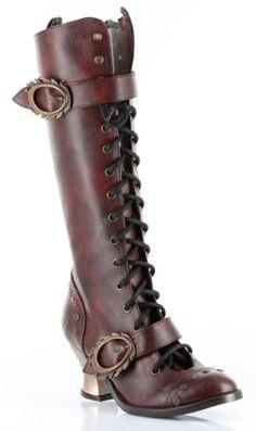 Fashion Bug Shoes H Vintage, 2.5 inch Lace-up Retro Knee Boot www.fashionbug.us #PlusSize #FashionBug #Shoes